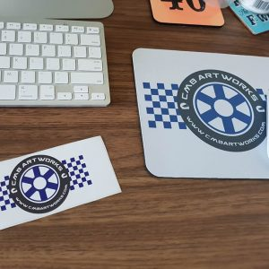 Mousemat and Car Sticker